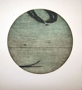 Simon Kaan (detail) Untitled Series 11- Circle I,  2011. - Intaglio woodcut from an edition of 20,(framed) on 280 x 250 mm paper,